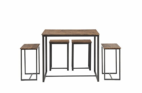 Abington Lane 5-Piece Counter Height Dining Table Set with 4 Stools