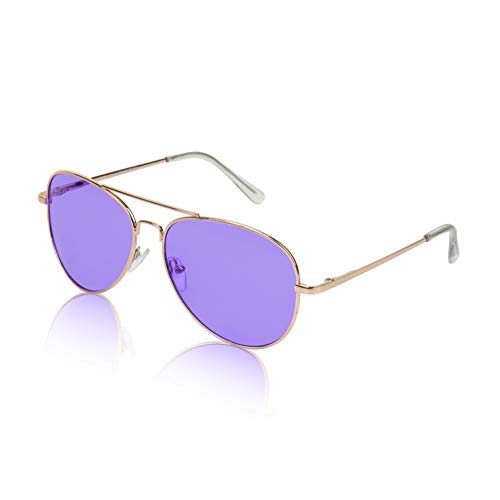 - Non Prescription Aviator Glasses Sunglasses For Women And Men 2 tone lens Purple