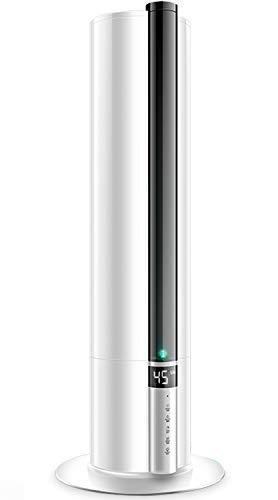 KEECOON 加湿機  7.5L 大容量 超音波式加湿器 上から給水式加湿器 上部給水 乾燥対策 床置加湿器 調整可能 切タイマー リモコン対応 定湿設定 ナイトライト付き 夜間ライト 静音、省エネ 空焚き防止機能付き スタンド式加湿器 オフィス 会所 デパート 大面積 12-38畳
