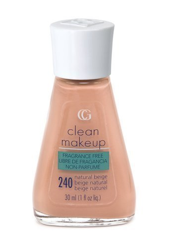 CoverGirl Clean Fragrance Free Liquid Make Up, Natural Beige 240, 1-Ounce Packages (Pack of 2) by COVERGIRL