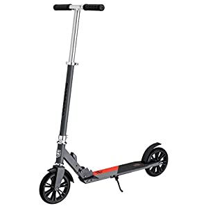 Mongoose Trace Foldable Kick Scooter Series, Featuring Quick-Release Adjustable Height Handlebars and Kickstand with 100-120-180-205mm Wheels, Multiple Colors Available