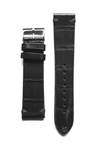 ヴィンテージコレクション18 mm Genuine Alligatorマットブラックバンドからイタリアaero-liningとS / Sバックル  B018YHCWUQ