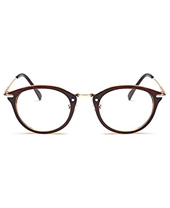 02427178ac Lunette Vintage - Lunettes sans correction Richie Marron: Amazon.fr ...