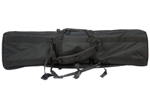 Lancer Tactical 46'' MOLLE Padded Rifle Bag Exterior Pockets Travel Handling Safe Keeping Adjustable Straps Quick Detach Buckles - BLACK by Lancer Tactical (Image #1)