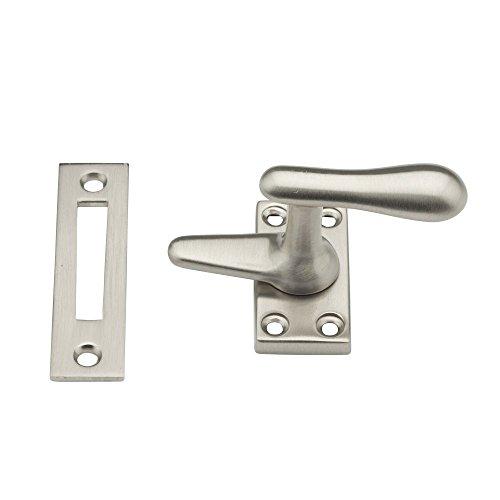 Satin Brass Fastener Casement - Baldwin 0496150 Casement Fastener, Satin Nickel