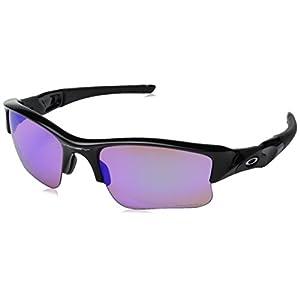 Oakley Men's Flak Jacket XLJ 24-428 Rectangular Sunglasses, Polished Black, 63 mm