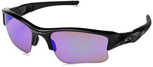 Oakley Men's Flak Jacket XLJ 24-428 Rectangular Sunglasses, Polished Black, 63 - Flak Oakley Black Sunglasses Jacket