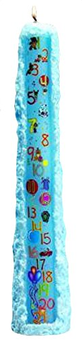 Biedermann & Sons Baby Shower Birthday 1 to 21 Pillar Candle, Light Blue, 15-Inches Tall by Biedermann & Sons