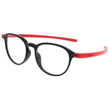 ac8141cba26 Tag Heuer 3953 Reflex eyeglasses col. 004 Black-Red Rubber new