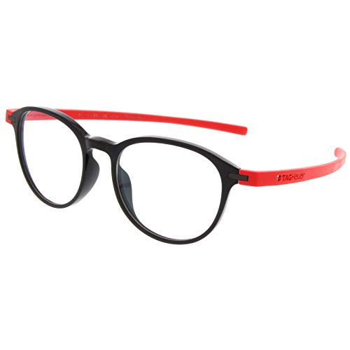 Tag Heuer 3953 Reflex eyeglasses col. 004 Black-Red Rubber new