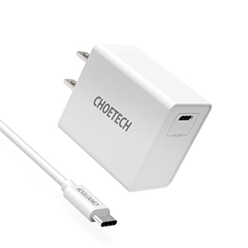 CHOETECH USB C Charger, 18W USBC Charger with Power Delivery Compact Travel Charger Compatible with iPad Pro, iPhone Xs Max Xs Xr 8 8 Plus X, Samsung Galaxy Note 9/8 S9 Plus, Google Pixel 3 -Black