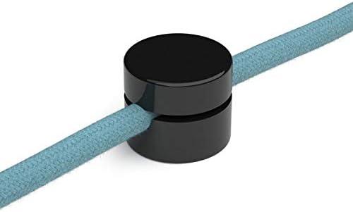 Fabricado en Italia color negro blanco y transparente Paquete de 5 unidades 10 unidades de color negro Descentrador para cable el/éctrico de textil // textil de pl/ástico gancho de techo o pared