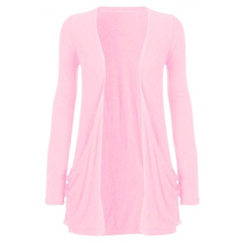 Hot Hanger Womens Maternity Long Sleeve Pocket Cardigan (16-18 (LXL), Baby Pink)