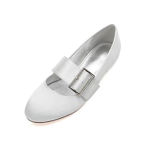 80% OFF El mejor regalo para mujer y madre Mujer Zapatos Satén Primavera  Verano Confort Bailarina Zapatos de boda Tacón Plano Dedo redondo Hebilla  Corbata ... abae30d2e91