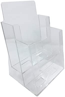 Dazzling Displays 2-Tier 6 x 9 Half-Page Brochure Holder
