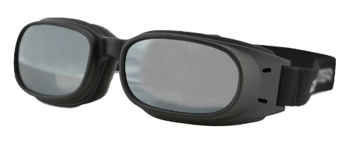 Bobster Piston Goggles, Black Frame/Smoked Reflective Lens -