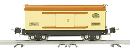 - MTH Tinplate 1:48 O Scale Box Car Cream Orange Reefer Car Model #10-8001