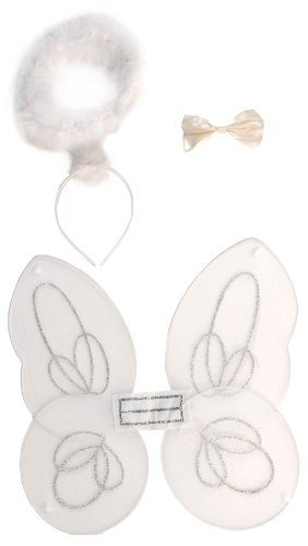 [Secret Wishes Angel Costume Accessory Kit, White, One Size] (Angel Wings For Halloween Costumes)