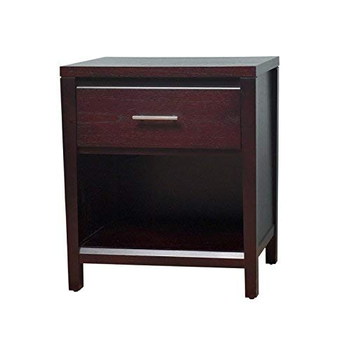 - Modus Furniture NV2381P Nevis Charging Station Nightstand, Espresso