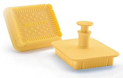 MAAJ® Pan de molde cortapastas con expulsor para diseñar creativas con fondant