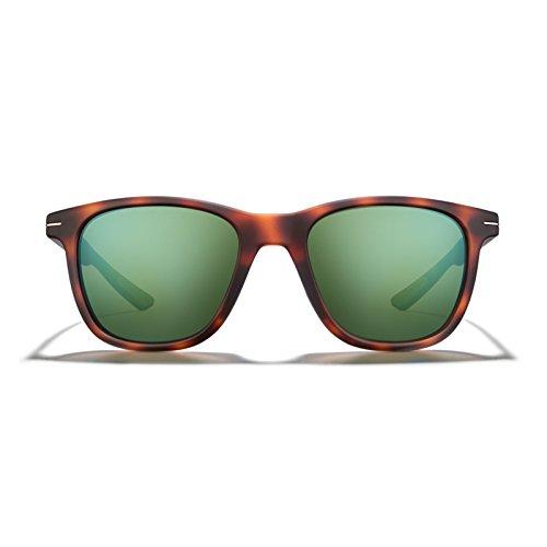 ROKA HALSEY Wayfarer Performance Sunglasses Designed for Sport for Men and Women - Matte Ember Frame - Bronze Mirror - Roka Sunglasses