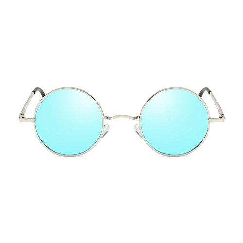 Soleil pour de Couleur pour Lunettes Homme Lunettes Homme Polarisées en De Soleil Cadre Silver Bleu LBY À Métal HOw7qxw