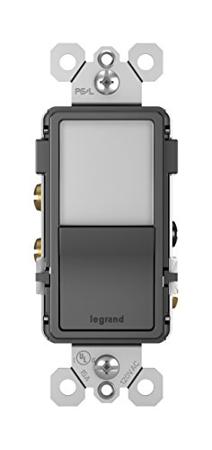 Pass & Seymour 3 Way - Legrand - Pass & Seymour radiant NTL873BKCC6 Night Light with Single Pole/3-Way Rocker Light Switch, Black