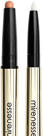 Mirenesse Natural Lip Primer Duet, Collagen Promoting Lip Balm and Liner in One with Vitamin C + Vitamin E, Vegan and Toxin Free, Universal .024 oz