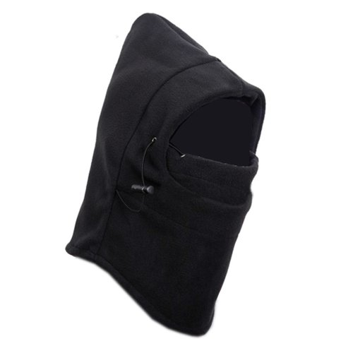 SumDirect 6 in 1 Thermal Hat Bike Wind Stopper Face Mask New Caps Neck Warmer(Black)