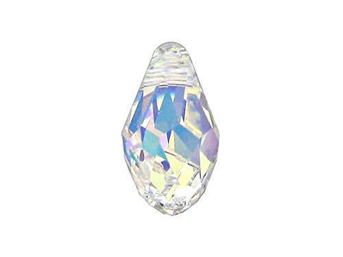 Swarovski Crystal, 6007 Briolettes Pendant 7mm, Crystal AB, Wholesale Packs | Pack of ()