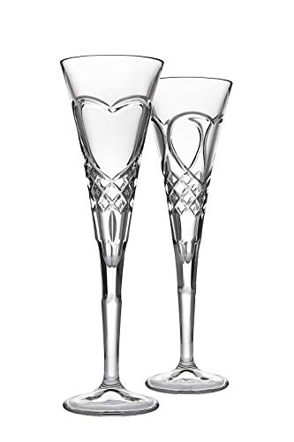 (Godinger European Made True Love Flute Pair Toasting Glasses)