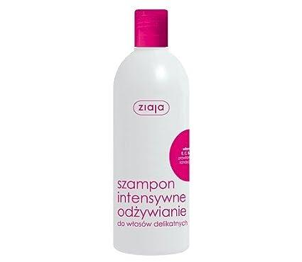 Champú nutritivo ZIAJA para el cabello, con complejo vitamínico para cabello fino y delicado,