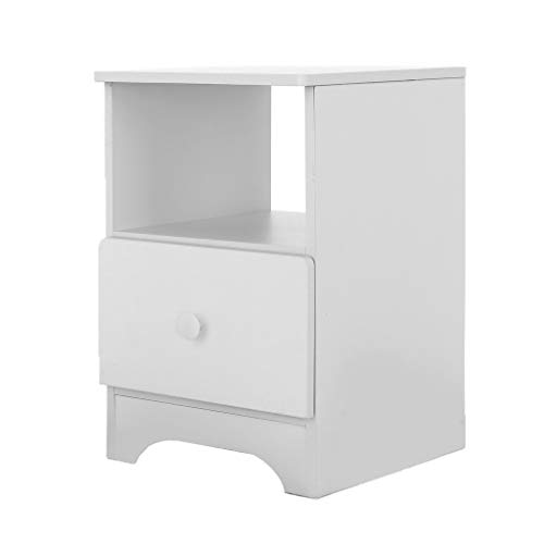- Stylish Wood Night Stand, CSSD Storage Cabinet with 2 Fabric Drawers, Bedside Table Bedroom Side Table, Modern Accent Table, Sturdy and Easy Assembly(Ship from US) (30x32x45cm, White)