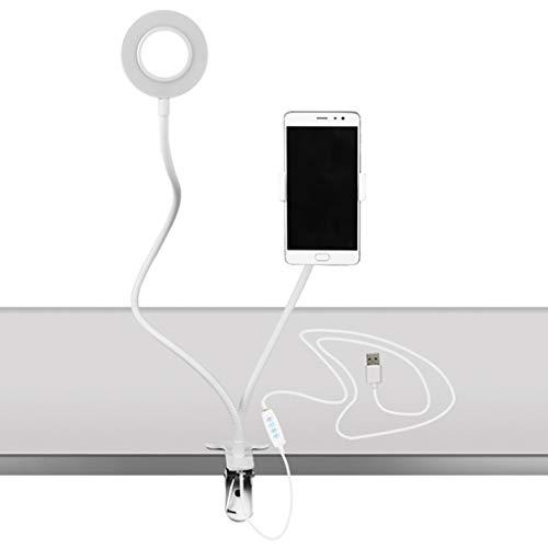 Eye Protection Table lamp Bracket,USB Rechargeable Beauty Fill Light LED Desk Table Reading Protect Eye Lamp Light White