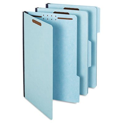 UPC 078973615521, Globe-Weis Legal Folders with Two Inch Expansion, Two Fasteners and 1/3 Cut, Light Blue, 25 per Box (GLW61552)