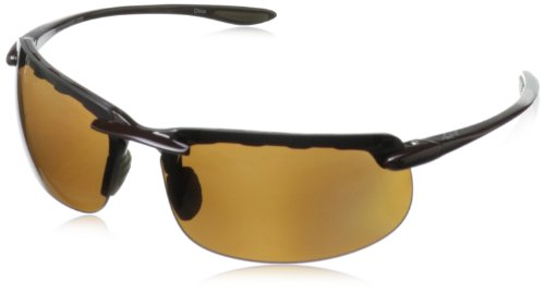 Greg Norman G4612 Polarized Sport Rimless Melanin Sunglasses,Brown, 77 mm by Greg Norman