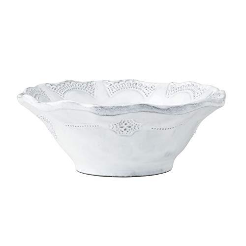 Vietri INC-1105D Incanto Lace Cereal Bowl White