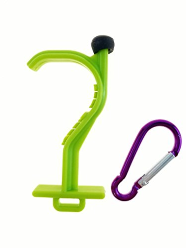 Kooty Key Germ Utility Tool  Avoid Touching Bacteria Ridden Surfaces  Carabiner Included  Colors May Vary