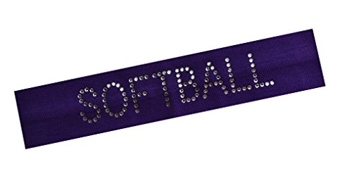 SOFTBALL Player Gift Set (Set of 3) Softball Cotton Stretch Headbands By Funny Girl Designs by Funny Girl Designs (Image #4)