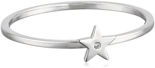 Shy by SE Star Ring with Burnished Diamond