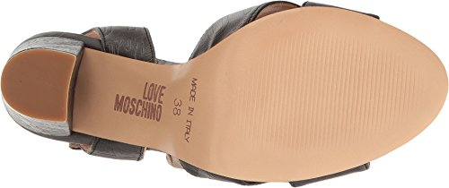 LOVE Moschino Women's Embossed Logo Heel Black Sandal by Love Moschino (Image #2)