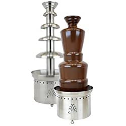 "Buffet Enhancements 1BMFCF40K22 4 Tier Chocolate Fountain, 40"", Stainless Steel"
