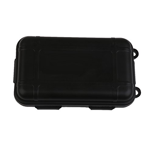 Outdoor Plastic Waterproof Airtight Survival Case Container Storage Carry Box Small New - Black