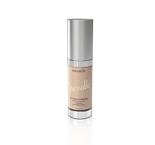 Mirabella Invincible Anti-Aging Full Coverage HD Liquid Foundation - Fair (II), 1 fl.oz. ()