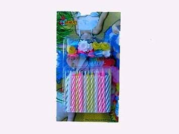 Promobo - Juego de 24 velas y 12 soportes - aniversario ...