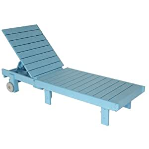 Sky blue polywood adirondack chaise lounge for Chaise adirondak