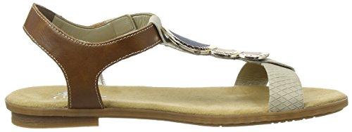 Beige Hellbraun Toe Women's 64278 Rieker Open Sandale Beige Fwg6FXq