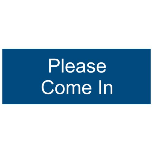 ComplianceSigns Engraved Plastic sign 8 x 3 in. with Courtesy message - Blue