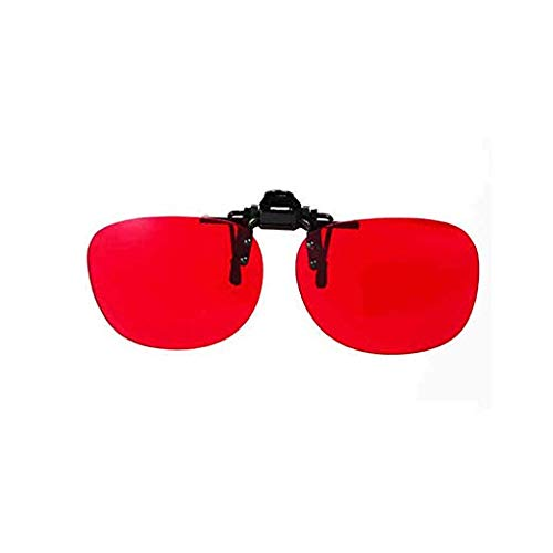 Corrective Glasses 180° Flippable Clip on Colorblind Correction Lens with Box for Red Green Color Blind Vision Care Color Blind Vision Care Medium Strong Grade Glasses (527 Glasses)