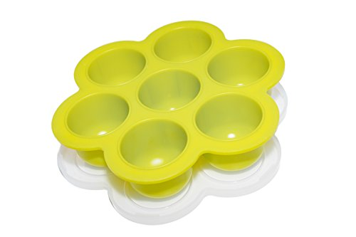 Made-in-USA - Popfex Silicone Egg Bites Mold for Instant Pot Accessories - Fits Instant Pot 5,6,8 qt Pressure Cooker - Reusable Storage Container and Freezer Tray with Lid for Homemade - Baby Food Pots